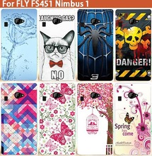 HOT Popular Cover For Fly Nimbus 1 FS451 Colorful Printing Flower Tree Stylish Fashion Case For Fly FS451 Nimbus 1 cover Shell