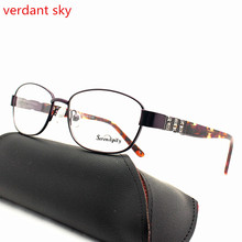 2017 latest women purple glasses rack vintage prescription glasses frame computer fashionable glasses frame acetate glasses leg(China)