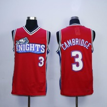 Calvin Cambridge Jersey #3 Like Mike Knights Movie Basketball Jerseys Stitched Throwback Jerseys S-3XL Free Shipping Viva Villa