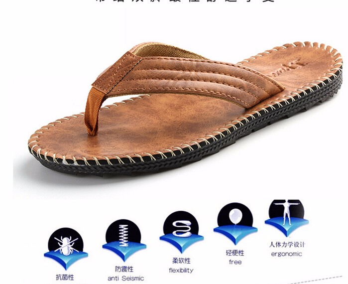 cc911baa7a59e4 Nice Men Leather Sandals Summer Sandals And Slippers Non Slip ...