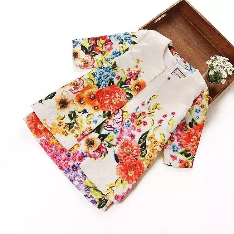 little Girls Dress Baby&amp;Kids Dresses with Digital Floral Dobby Print Brand New Children 2016 new Autumn Dress for Girls<br>