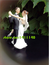 """Sweet Dancing ""Bride and Groom Wedding Cake Topper Couple Figurines wedding cake decorations with free shipping(China)"