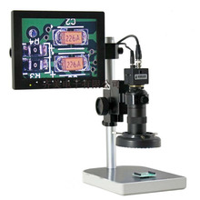 HD Electronic Digital Microscope Eyepiece LED Light Illumination Industrial Camera with 8 inch screen for Mobile Phone Repairing