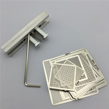 27pcs BGA Directly Heat Rework Reballing Universal Stencil Template + BGA Reballing Kit Station