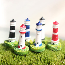Miniature, Zakka Artificial Mini Lighthouse Beacon Micro Landscaping Decoration Small World Plastic Craft DIY Accessories(China)
