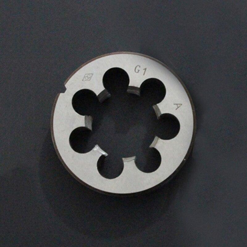1//4 High Quality Pipe Thread Round Dies BSP 1//8 3//8 HSS Round Die G 1//2 3//4 1