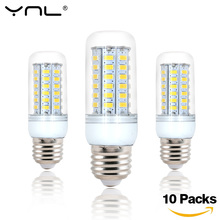 YNL 10pcs LED Lamp E27 220V 24 36 48 56 69 72 96 LEDs SMD5730 Bombillas lamparas Lampada de LED Corn Light Bulb Ampoule Lighting