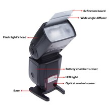 WS-560 Universal LED Camera Flashes Speedlite Speedlight for Nikon Canon Olympus Pentax D3100 D5100 1D 5DII 5DIII 50D