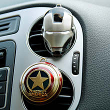 Iron Man Captain America shield perfume original car-styling perfumes Fragrance Luxury Car Air Freshener Conditioning Vent Clip