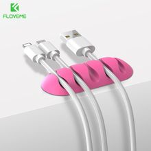 FLOVEME Durable Cable for iPhone Clamp Clip Rubber Cable Toggle Clip Tiny Wire Cable Organizer Desktop Workstation Clip