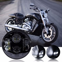 "AOZBZ 7"" Round 80W LED Headlight Projector Headlamp Hi/Lo Beam DRL for Harley Davidson Motorcycle(China)"