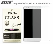 SIJIE Tempered Glass For HUAWEI honor 7 0.26mm Screen Protector front stronger 9H hardness thin discount with Retail Package