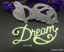 Wish letters dream metal cutting dies stencils Scrapbook Card picture frame envelope decorative holiday greeting words cut dies