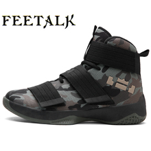 Feetalk Men Basketball Shoes Breathable Comfortable Sports Ankle Boots Athletic Training Durable Rubber Outsole Sneakers 02(China)