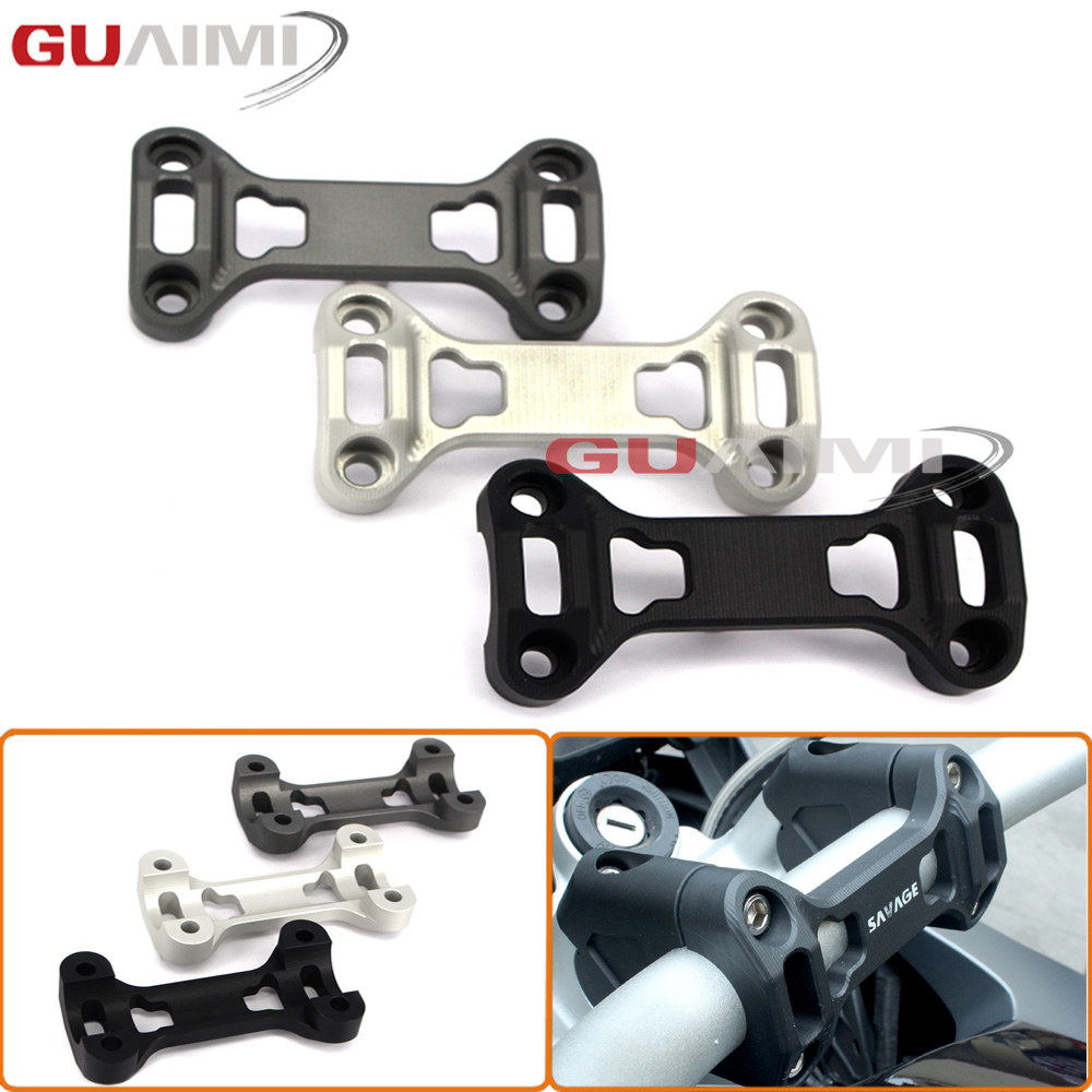 Motorcycle CNC Aluminum Handle Bars Handlebar Risers Top Cover Clamp For BMW R1200GS LC 14-17 R 1200GS ADV 14-17 Motorbikes<br>