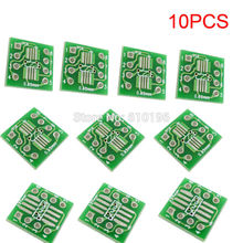 10PCS SOP8 SSOP8 TSSOP8 to DIP8 Interposer Module PCB Board Adapter Plate
