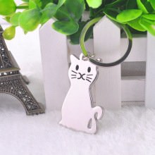 New Fashion Creative Model Cat Keychain Popular Versatile Metal Key Ring Key Chain car key ring(China)