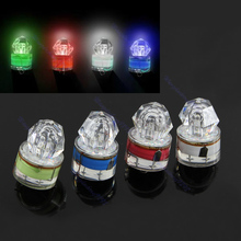hot LED Deep Drop Underwater Diamond Fishing Flashing Light Bait Lure Squid Strobe(China)