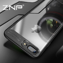 ZNP Luxury Case For iPhone 7 8 Plus Ultra Thin Slim PC & TPU Silicone Phone Cover For iPhone 8 7 7Plus 8Plus Case Coque(China)