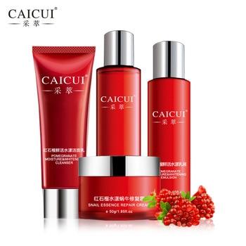 Caicui set per la cura della pelle schiuma detergente viso toner emulsione lumaca creme whitening moist anti rughe bellezza set di cosmetici cura del viso