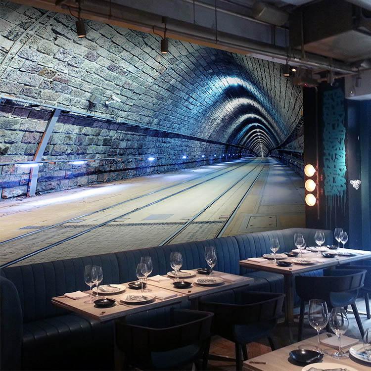 3D photo wallpaper Dimensional space capsule universe background restaurant bar KTV Internet cafe hall 3D tunnel wallpaper mural<br>