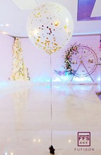 Size 36inch Giant clear balloon Brithday Party Decoration wedding decoration multicolor Dots confetti balloon(China)