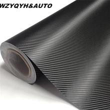 Car-styling 127cm x10cm 3D Carbon Fiber Vinyl Wrap Film Motorcycle Car Vehicle Stickers And Decals Sheet Roll Car Accessories