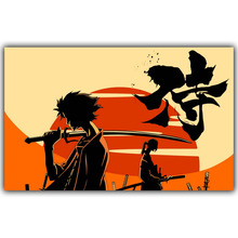 Samurai Champloo Anime Mugen And Jin Art Silk Poster Print Japanese Anime Pictures for Wall Decor DM115(China)