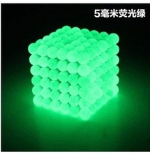 6x6x6 216pcs 5mm Luminous Neodymium Magnetic Balls Sphere Beads Magic Cube Magnets Puzzle Cube Kids Educational toys gifts