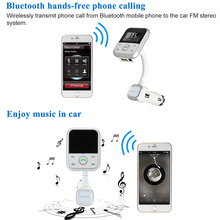 KKmoon 2.1A FM Transmitter Handsfree Bluetooth Car Kits USB SD Aux-in Phone Calling Music Player Car Chargers(China)