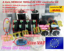 4 Axis ( Dual shaft )NEMA34 1600 oz-in torque stepper motor CNC controller Kit for Large size Router Mill(China)