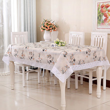 Waterproof and oil - free washable PEVA random with multi - color tablecloths coffee table pad cloth 1pcs