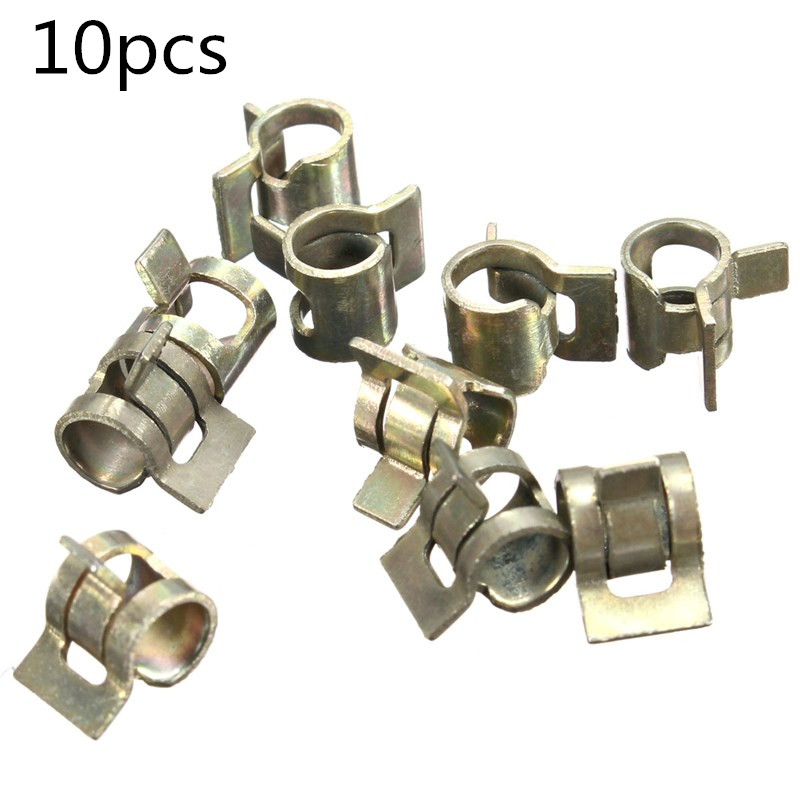 10PCS//Set Spring Clips Clamp Fuel Oil Water Line Hose Pipe Air Tube Fastener Kit