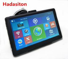 New 7 inch Capacitive Screen Car GPS Navigation SAT NAV CPU800M 8G +free new maps,wireless rearview camera optional(China)