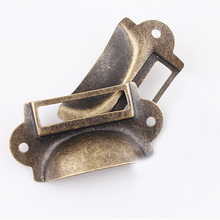 12PCS File Name Card File Cabinet Handles Label Holder Antique Bronze Drawer Label Pull Cabinet Frame Handle File Name(China)