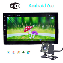 Auto Car Radio new 2 Din android 6.0 Multimedia Player GPS Navigation 7'' HD Touch Screen MP5 Audio Stereo Bluetooth FM USB TF(China)