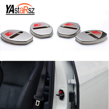 New Arrival Stainless Steel Door Lock Decoration Cover Door Lock Cover Sticker For AUDI A1 A3 A4 A5 A7 A8 Q3 Q5 Q7 Car Styling(China)