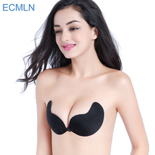 2017Silicone Push Up bras Strapless Adhesive bra Invisible sexy brassiere women's lingerie seamless bra backless(China)