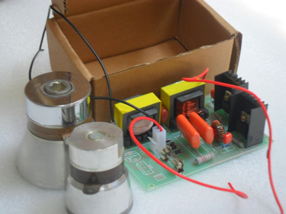 40khz Ultrasonic piezoelectric generator PCB 60W/220V,Price including matching Transducers<br>