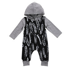 NEW Infant Baby Boys Clothes Long Sleeve Cotton Romper Cute Hooded New Rompers Outfit Clothing Baby Boy US(China)
