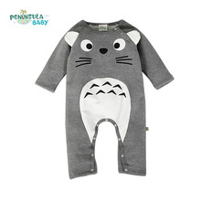 Brand Baby Clothes Newborn Baby Rompers Totoro Infant Fleece Long Sleeve Jumpsuits Boys Girl Autumn Winter Clothes Wear