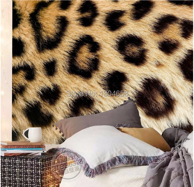 Custom photo wallpaper leopard fur for the sitting room the bedroom TV setting wall vinyl sofa which papel DE parede <br>