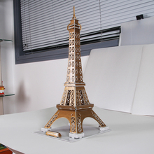 3D Puzzle Paper DIY Eiffel Tower Model For Children toy Construction building gift Model 3D PUZZLE LEANING ARCHITECTURE(China)