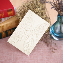 20Pcs Wedding Party Invitation Card Carved Butterlies Delicate Envelope Invitations for Wedding/Business/Party/Birthday
