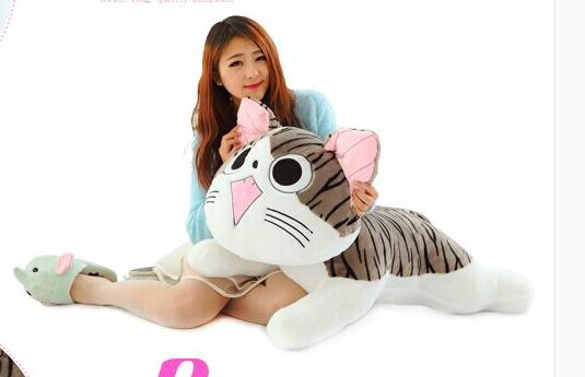 big lovely Cheese cat toy plush big round eyes Cheese cat doll birthday gift about 80cm<br><br>Aliexpress