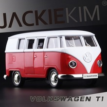 High Simulation Exquisite Model Toy Car Styling 1:36 Volkswagen Van Retro Print T1 Bus Alloy Bus Model Excellent For Baby Gifts