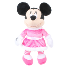 34CM Minnie Mouse Toys Minnie Pink Stuffed Animals Pelucia Mouse Girl Friend Minnie Plush Toys for Children