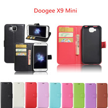 Doogee X9 Mini 5.0inch Case Wallet Style PU Leather Protective Back Cover For Doogee X9 Mini Phone Bag Cases