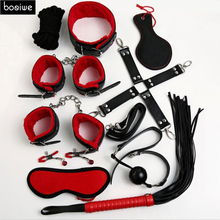 Buy Leather Adult Games 10 PCS/SET Sex Products BDSM Slave Restraint Item Play Fun Games Restraints Kit Erotic Toys Sex Couple for $14.21 in AliExpress store