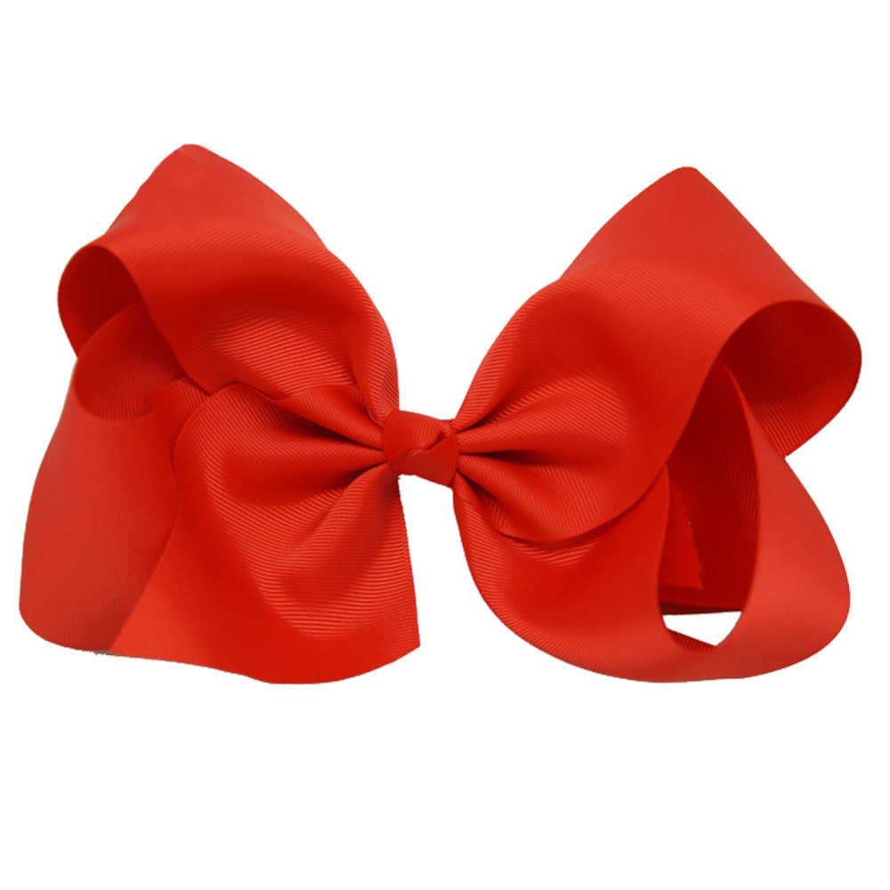 Boutique 8 Inches Large Solid Grosgrain Ribbon Hair Bow With Alligator Clips Barrette Red Bows For Women Girls Hair Accessories<br><br>Aliexpress